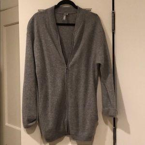 NWOT SZ S cashmere zip front cardigan